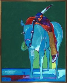 John Nieto Fine Art, Native American Reflecting with Horse Native American Paintings, Native American Artists, Native American History, Indian Paintings, Spirited Art, Southwest Art, Indian Artist, American Indian Art, Indigenous Art