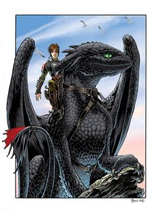 Hiccup and Toothless by Daniel Govar