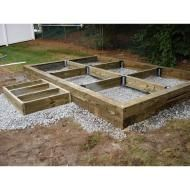 How to build a post beam shed foundation on a slope for 12x10 deck plans