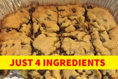 I do not know about you folks, but I love a good cookie bar recipe. Especially when I need to take a dish to pass to a church potluck or other event. Cookie bars can Chocolate Chip Cookie Bars, Chocolate Pies, German Chocolate, Cake Recipes, Dessert Recipes, Desserts, Easy Strawberry Jam, Lemon Squares, Easy Casserole Recipes