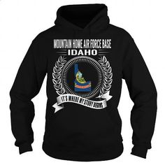 Mountain Home Air Force Base, Idaho - Its Where My Story Begins - #dress #vintage t shirts. PURCHASE NOW => https://www.sunfrog.com/States/Mountain-Home-Air-Force-Base-Idaho--Its-Where-My-Story-Begins-Black-Hoodie.html?id=60505