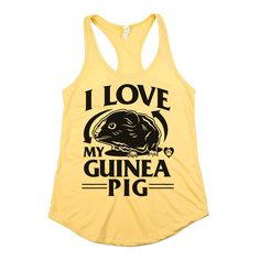 Now you can show the world your love for small animals with our 'I Love My Guinea Pig' Tee/Tank!