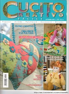 Cucito Creativo Fabric Toys, Fabric Crafts, Paper Crafts, Sewing Magazines, Book Crafts, Craft Books, Album Book, Book Quilt, Pattern Books