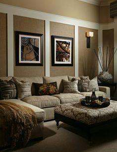 Wandgestaltung Braun Beige Wohnzimmer #1 | Den | Pinterest | Living Rooms,  Living Room Ideas And Living Room Brown