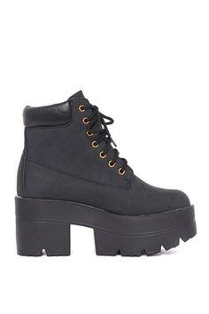 Platform Timberland style boots 90s grunge by WILDCHILDSCA on Etsy