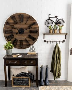 Industrial goes vintage in this stunning entryway!