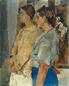 """""""Donne del lazio"""" 1935, Fausto Pirandello (1899 – 1975)"""