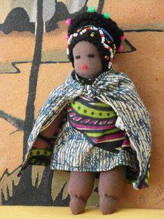 WALDORF DOLL Africa Zulu handmade Unique  by ExclusiveFinds, €39.50