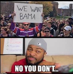 Better think before you make this statement Alabama Football Funny, Alabama Baby, Football Memes, American Football, Uofa Football, Football Season, College Football, Alabama Crimson Tide, Crimson Tide Football