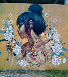 Street Art by Ricardo Odv Rgw. #StreetArt #Graffiti #Mural