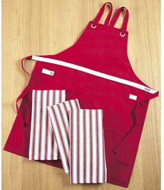 CHEFS Kitchen Apron & Kitchen Towel Set, 4 piece