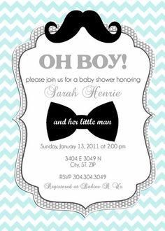 Baby boy shower invitation. So cute!