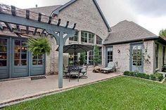 Great patio on this narrow lot plan (36151TX, 55w/86deep, 4,024sf)). http://www.architecturaldesigns.com/house-plan-36151TX.asp