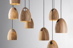 Oak Pendants by Ross Gardam.
