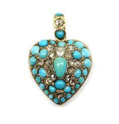 19th century turquoise pendant