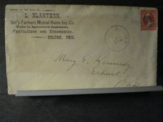 1896 FERTILIZERS & CREAMERIES Postal History Cover BELDEN, OHIO