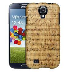 Samsung Galaxy S4 Burned Music Sheet on Wood Trans Case