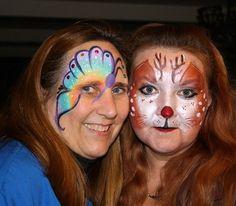 face paint - rudolph