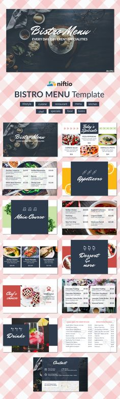 An online version of your menu is a great solution when your business focuses on new recipes. Find out how else your business can benefit from an online menu! Make A Presentation, Presentation Templates, Use Case, Menu Template, Menu Restaurant, New Recipes, Benefit, Layout, Lifestyle