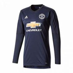 bb37eeea0560 Manchester United Målmand Hjemmebanetrøje 17-18 Lange ærmer  Billige   Fodboldtrøjer