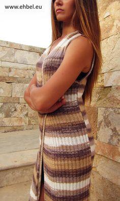 Bamboo Knitted Long Vest| Длинный вязаный жилет из бамбука | Ehbel Clothing