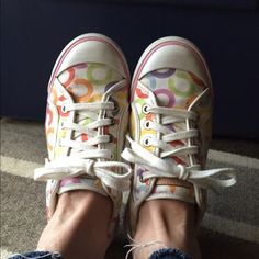 REDUCEDCoachOOBER cute! Great Shape! These Coach Barrett sneakers are so fun, comfortable, in great shape and on trend! I wore them quite a few times, but they still look awesome!!! Coach Shoes Sneakers