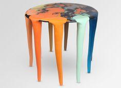 Liquid Moon Side Table - Multi Bright - Dinosaur Designs AU Store