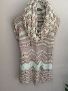 Hand Knit  One of a Kind Pure Merino Wool Sweater Tunic  size M-L #Handmade #Tunic