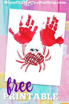 Handprint Crab - Summer Keepsake Kid Craft Idea