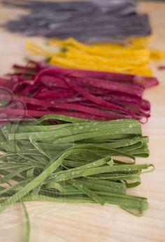 Rainbow Pasta, Colored Pasta, Dumplings, Celery, Pesto, Asparagus, Food And Drink, Gluten Free, Snacks