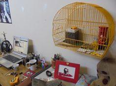 gaiola para se guardar tudo, menos pássaros.