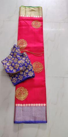Silk Kota Saree With Designer blouse - ElegantFahionWear Kota Silk Saree, Kota Sarees, Bridal Silk Saree, Saree Wedding, Indian Sarees, Silk Saree Kanchipuram, Simple Sarees, Saree Trends, Elegant Fashion Wear