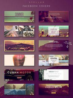 Stellar Social Media Banner Pack by Zeppelin Graphics on @creativemarket #ad