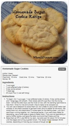 Amazing Homemade Sugar Cookie Recipe