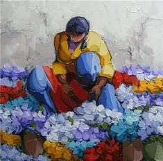 Saim Dursun Art And Illustration, Indian Art Gallery, Mexico Art, Mid Century Art, Painting People, Expositions, Paintings I Love, Fine Art, Mosaic Art