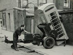 London Telephone box being installed on Beresford Road, Islington, London N1…