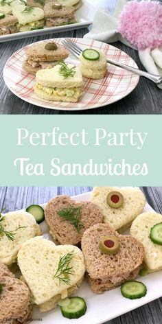 finger foods Adorable little Heart Tea Sandwiches are perfect for Valentines Day party, or any lunch party. Adults Love them because they are finger food, but your kids will love the cute Tea Party Sandwiches Recipes, Party Recipes, High Tea Sandwiches, Recipes Dinner, Bridal Shower Sandwiches, Birthday Recipes, Bridal Shower Recipes, Easy Finger Sandwiches, Sandwiches For Dinner