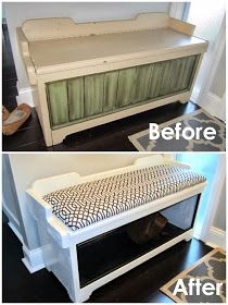 Home Chic House: The Entry Way Bench Makeover
