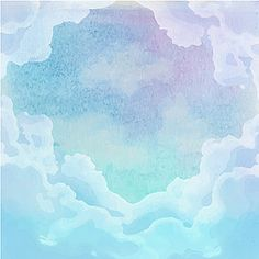 Ink color clouds background