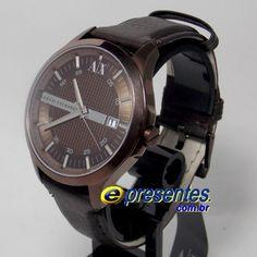 920ba834d2c UAX2123Z Relogio de Pulso Armani Exchange analógico pulseira de couro