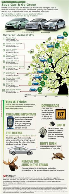 Save Gas and Go Green (Infographic)