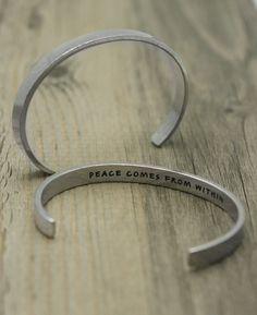 Peace Quote Bracelet