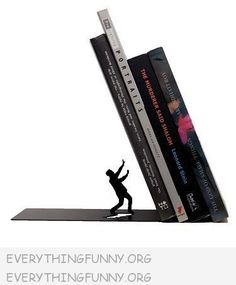 """Awesome 'Falling Books"""" Bookend"""