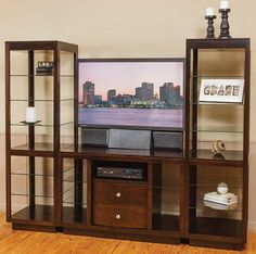 Amish Made Solid Wood Clarion Entertainment Center