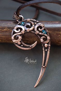 Spiral wire wrap necklace