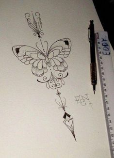 Spine tattoos, back tattoos, body art tattoos, clock tattoo design, tat Body Art Tattoos, New Tattoos, Tattoos For Guys, Sleeve Tattoos, Tattoos For Women, Tatoos, Mandala Tattoo Design, Butterfly Tattoo Designs, Butterfly Mandala Tattoo