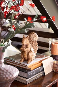 Most squirrels gather acorns, but we're sure Pier Woodland Squirrel will… Thanksgiving Decorations, Seasonal Decor, Holiday Decor, Christmas And New Year, All Things Christmas, Nutty Buddy, Mantel Shelf, Welcome Fall, Autumn Theme