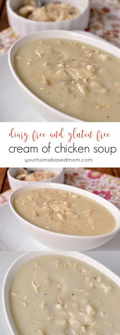 Dairy Free and Gluten Free Cream of Chicken Soup. Oh my Gosh this recipe is to die for. Love it. definitely one of our favorites