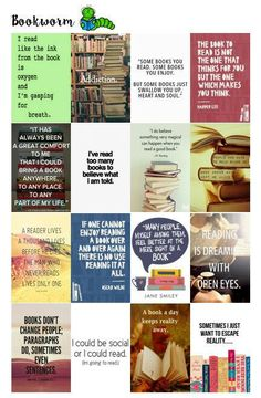 Quotes for Bookworms planner stickers for use with MAMBI Happy Planner  **Instant Download Printable** fit in the daily box