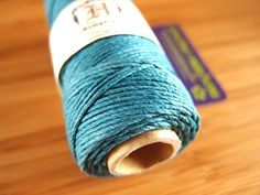 Hemp Cord - Aquamarine - #20 20lb / 1mm cord Hemptique - Five (5) Metres -   Jewellery Making Stringing Knotting Cord Thong  by LoveEllieBagMaking Find it now at http://ift.tt/2aqr61t!
